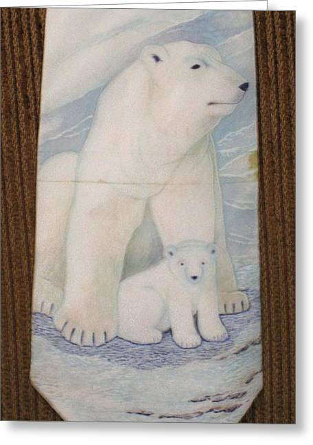 Bears Tapestries - Textiles Greeting Cards - Mother and Cub  Greeting Card by David Kelly