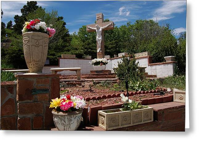 Rosary Greeting Cards - Mother Cabrini Shrine Greeting Card by Christopher James