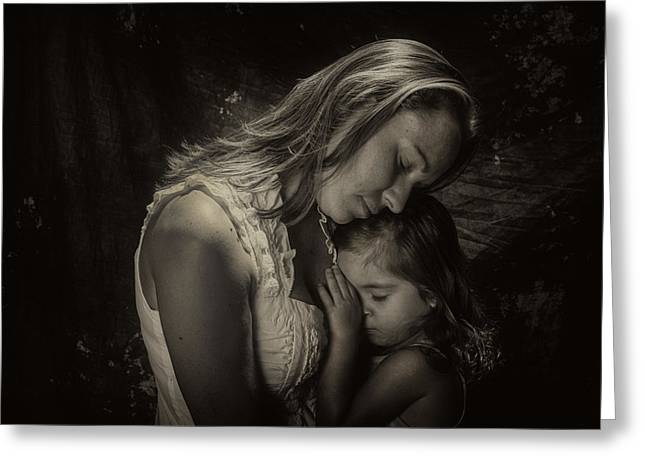 Tabletop Greeting Cards - Mother Daughter Greeting Card by Kevin Cable