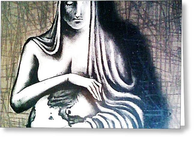 Mother Earth Greeting Card by Paulo Zerbato