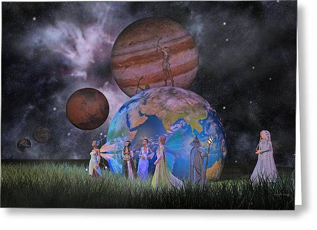 Mother Earth Series Plate2 Greeting Card by Betsy C Knapp