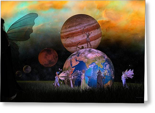 Mother Earth Series Plate6 Greeting Card by Betsy C Knapp