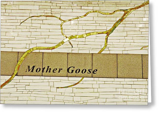 Mother Goose At The Root Of Culture Greeting Card by Sarah Loft