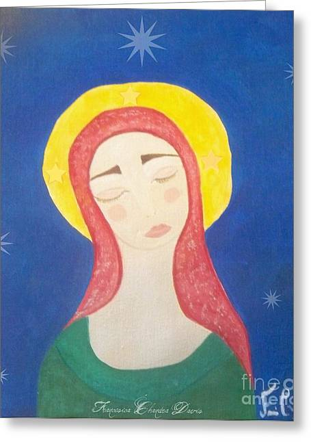 Gold Star Mother Greeting Cards - Mother Mary  Greeting Card by Sacred  Muse