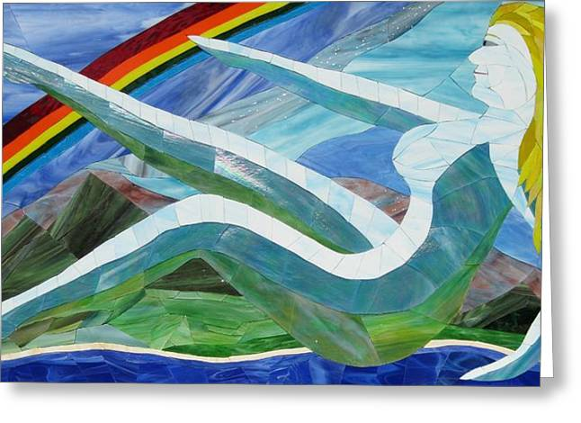 Fantasy Glass Greeting Cards - Mother Nature Greeting Card by Charles McDonell