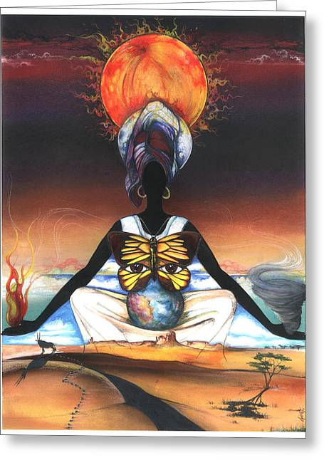 Spirt Greeting Cards - Mother Nature II Greeting Card by Anthony Burks Sr