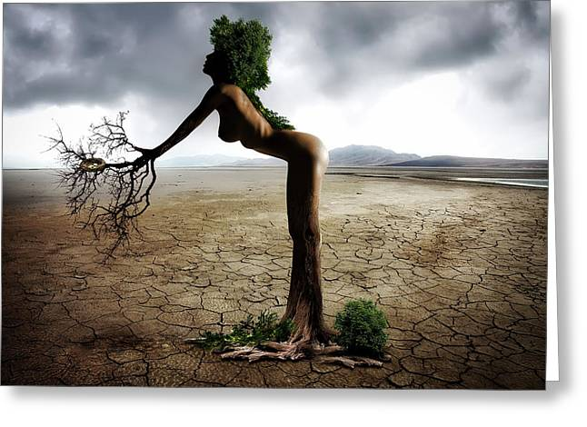 Dry Lake Digital Art Greeting Cards - Mother Nature Greeting Card by Jonny Lindner