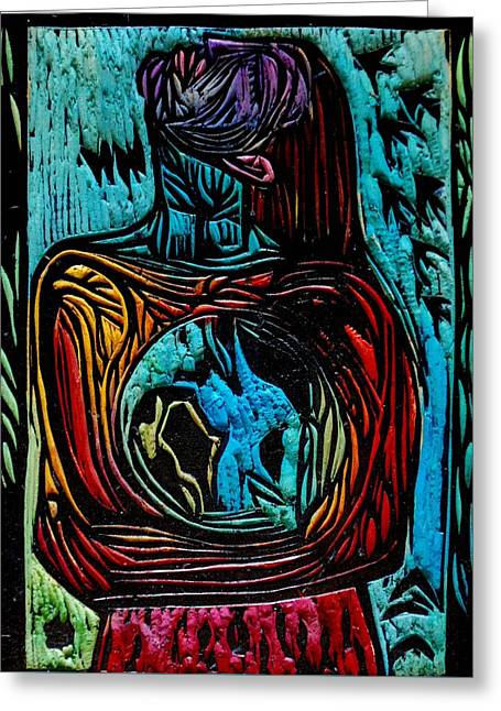 Rainbow Reliefs Greeting Cards - Mother Nature Greeting Card by Leigh Ann Lockheart