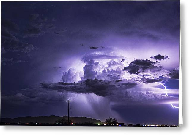 Monsoon Clouds Greeting Cards - Mother Nature Speaks  Greeting Card by Saija  Lehtonen