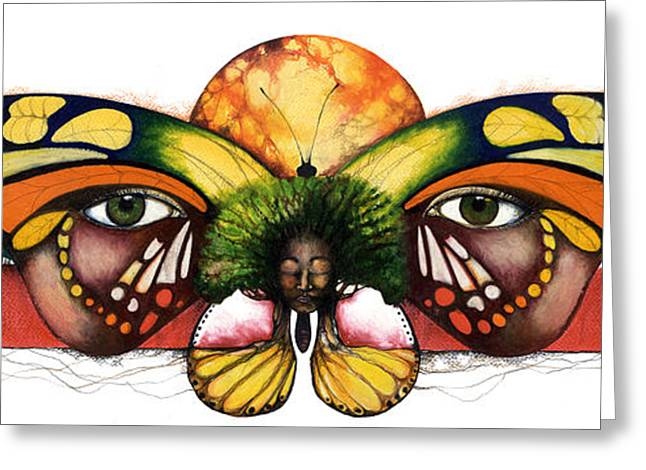African-american Mixed Media Greeting Cards - Mother Nature VI Greeting Card by Anthony Burks Sr