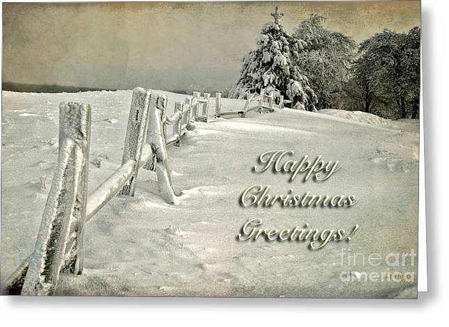 Mother Nature's Christmas Tree Card Greeting Card by Lois Bryan