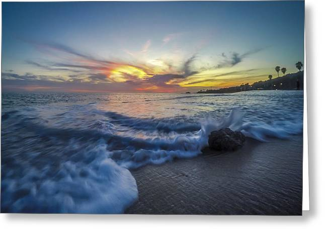 California Beaches Greeting Cards - Mother Natures Fireworks Greeting Card by Sean Foster