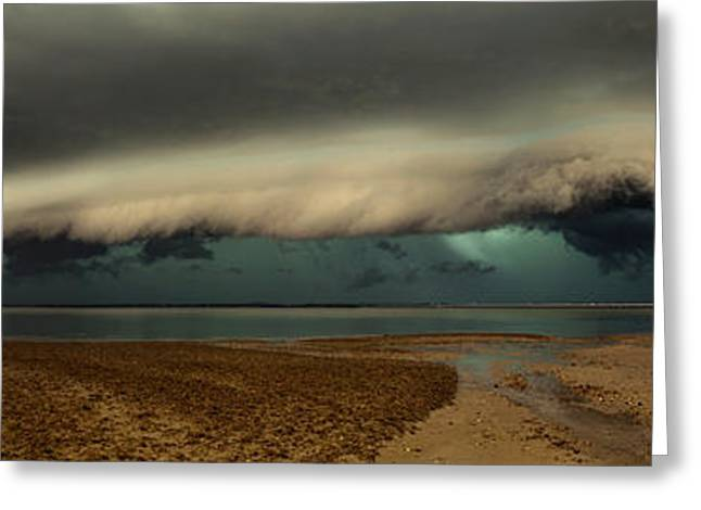 Storm Cloud Greeting Cards - Mother Natures Revenge Greeting Card by Mel Brackstone
