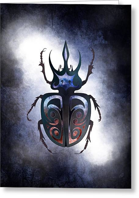 Rhinoceros Greeting Cards - Mother of Beetles Greeting Card by Adam Eivy