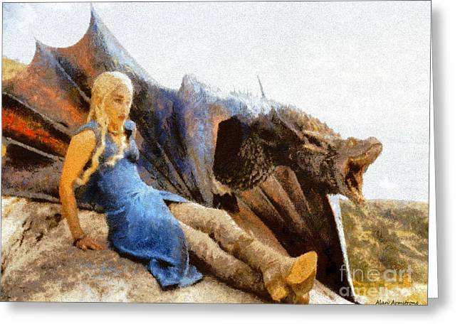 Movie Art Greeting Cards - Mother Of Dragons Greeting Card by Alan Armstrong