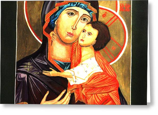 Mother of God Antiochian Orthodox Icon Greeting Card by Patrick Kelly
