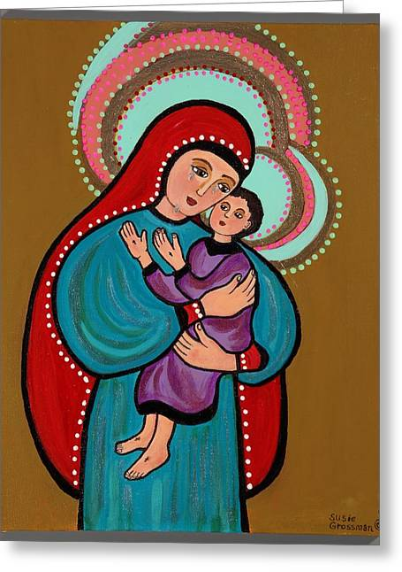 Child Jesus Greeting Cards - Mother Of Tears Greeting Card by Susie Grossman