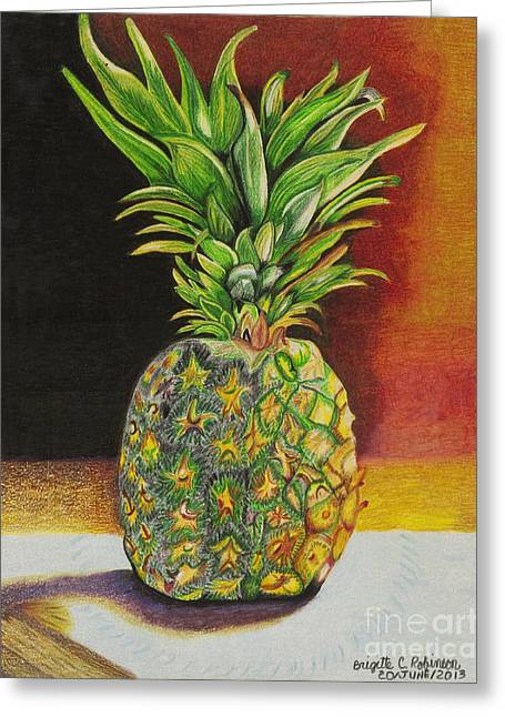 Restaurant Pastels Greeting Cards - Succulent Greeting Card by Brigitte C Robinson