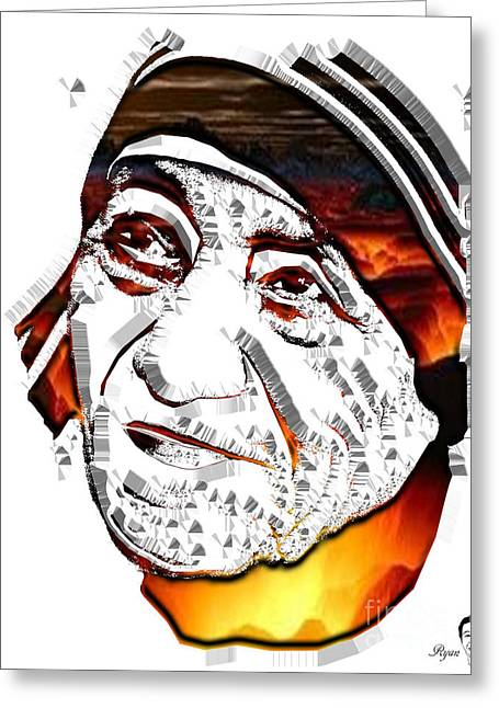 Caring Mother Greeting Cards - Mother Teresa  Greeting Card by Dalon Ryan