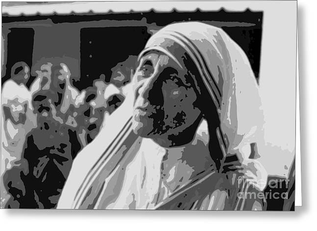 Mother Teresa Poster Greeting Card by John Malone