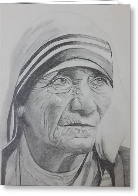 Mother Theresa Greeting Cards - Mother Theresa Greeting Card by Premnath Mohan