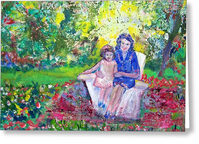 Patricia Taylor Greeting Cards - Mother with Me Greeting Card by Patricia Taylor