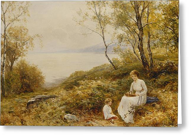 River View Greeting Cards - Motherly Love Greeting Card by Ernest Walbourn