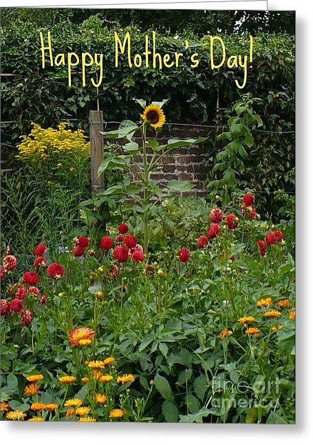 Carol Groenen Digital Art Greeting Cards - Mothers Day Card--Dutch Garden Greeting Card by Carol Groenen