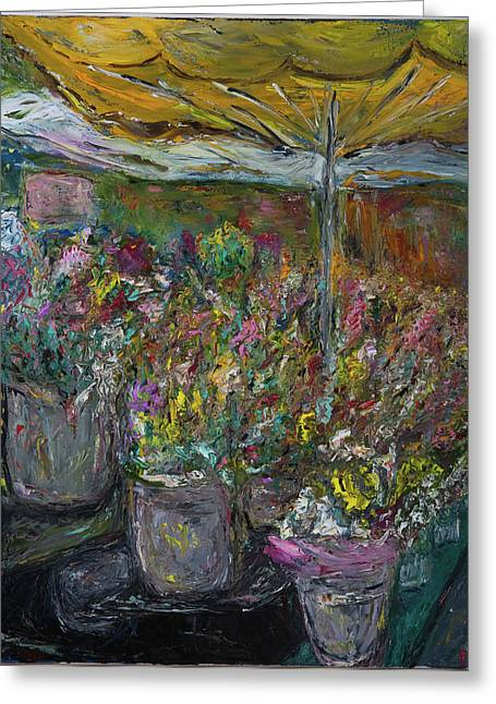 Best Sellers -  - Van Gogh Style Greeting Cards - Mothers Day Greeting Card by Dan Castle