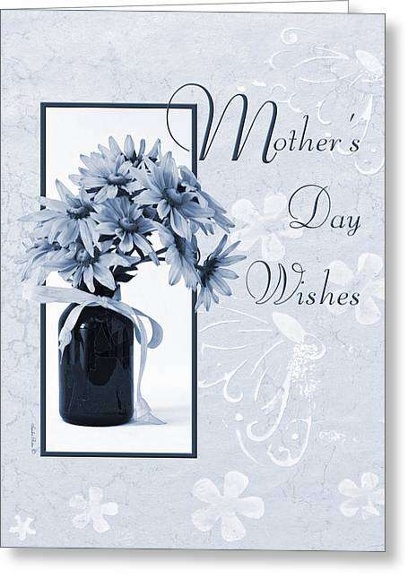 Wishes Greeting Cards - Mothers Day Wishes - Daisies Greeting Card by Sandra Foster