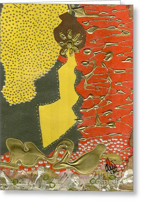 Mother's Earring Greeting Card by Angela L Walker