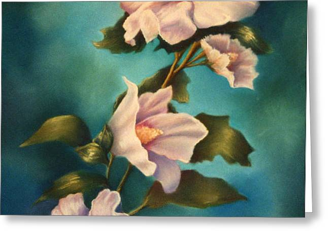 Mothers Rose of Sharon Greeting Card by Marti Bailey