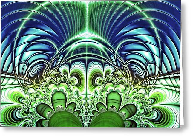 Mothership Greeting Card by Gregory Pirillo
