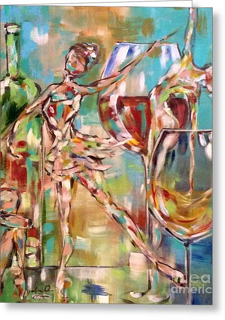 Wine Pouring Greeting Cards - Mothers Day Greeting Card by Lisa Owen-Lynch