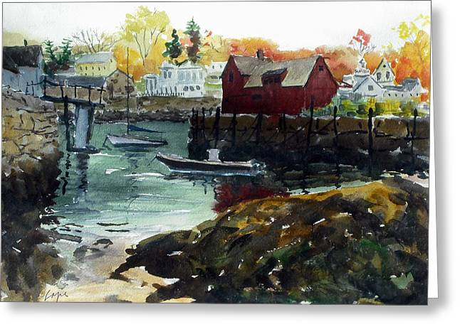 Lobster Shack Paintings Greeting Cards - Motif 1 from the other side Greeting Card by Chris Coyne