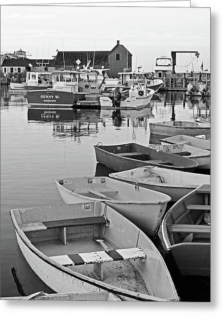 Motif #1 Rockport Ma Black And White Greeting Card by Toby McGuire
