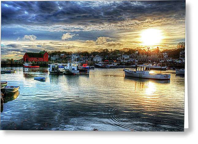 Motif #1 Sunrise Rockport Ma Greeting Card by Toby McGuire