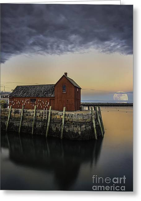 Motif And The Moon Greeting Card by Scott Thorp