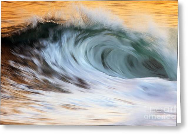 Vince Greeting Cards - Motion Blur Of Wave  Hawaii, United Greeting Card by Vince Cavataio