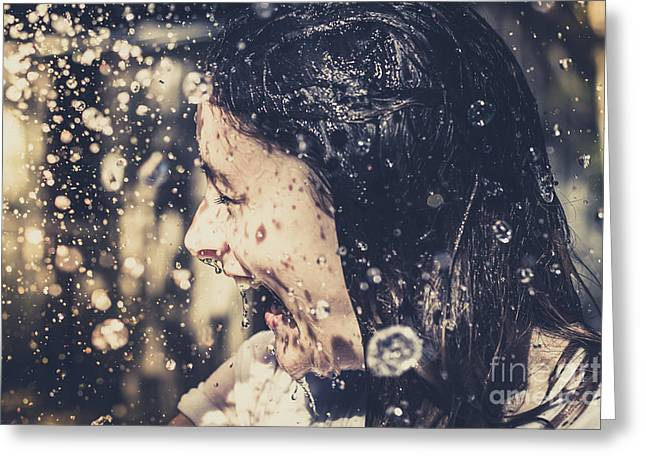 Shower Head Greeting Cards - Motion in emotion Greeting Card by Ryan Jorgensen