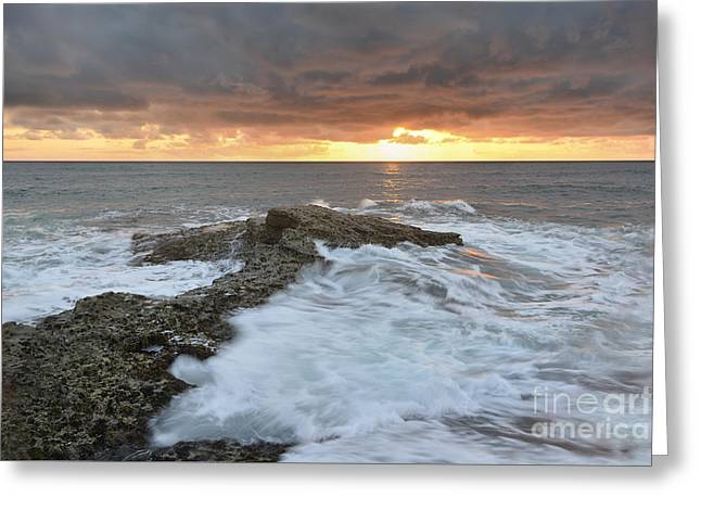 Wishes Greeting Cards - Motion of The Ocean 1 Greeting Card by Milton Elliott