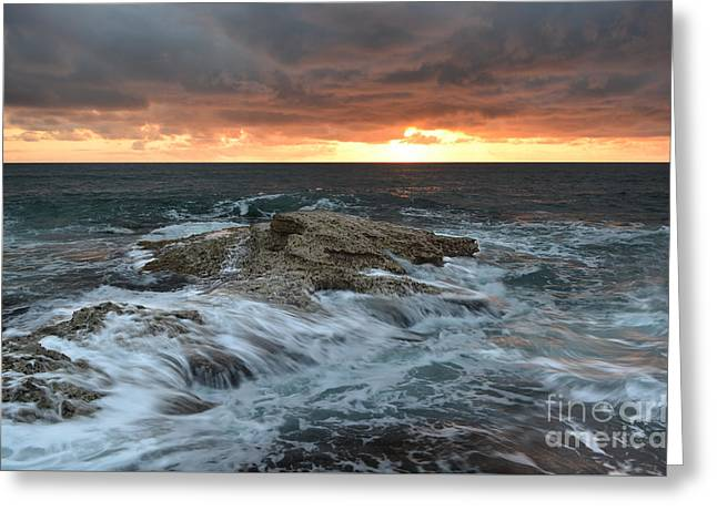 Wishes Greeting Cards - Motion of the Ocean1 Greeting Card by Milton Elliott