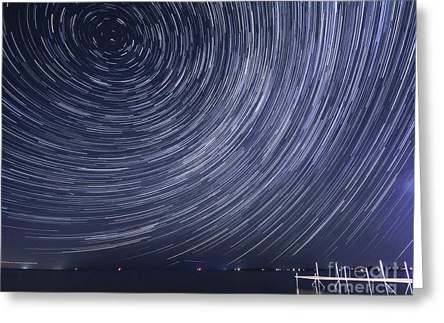 Motion Of Universe Greeting Card by Charline Xia