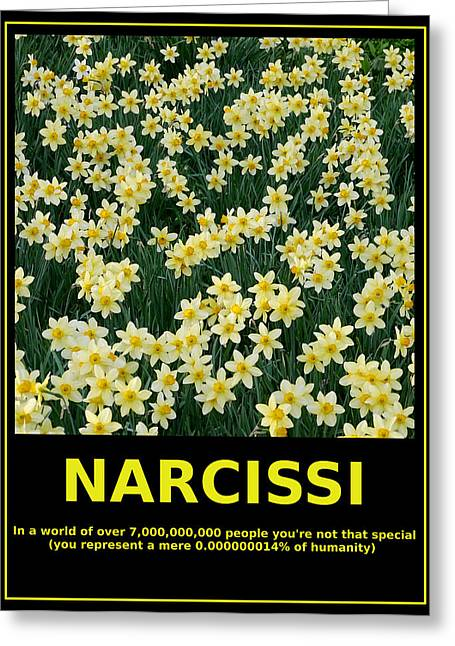 Consultant Office Greeting Cards - Motivational Irony - Narcissi Perspective Greeting Card by Richard Reeve