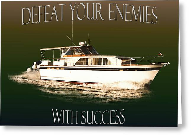 Motivational Poster Greeting Cards - Motivational poster Chris Craft Greeting Card by Jack Pumphrey