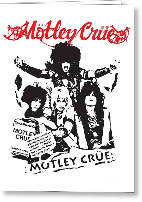 Rocks Digital Greeting Cards - Motley Crue No.01 Greeting Card by Caio Caldas