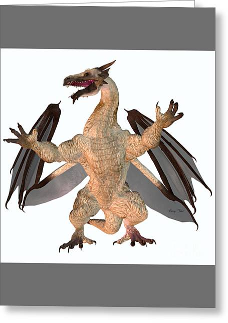 Fantasy Creatures Greeting Cards - Motley Dragon Greeting Card by Corey Ford