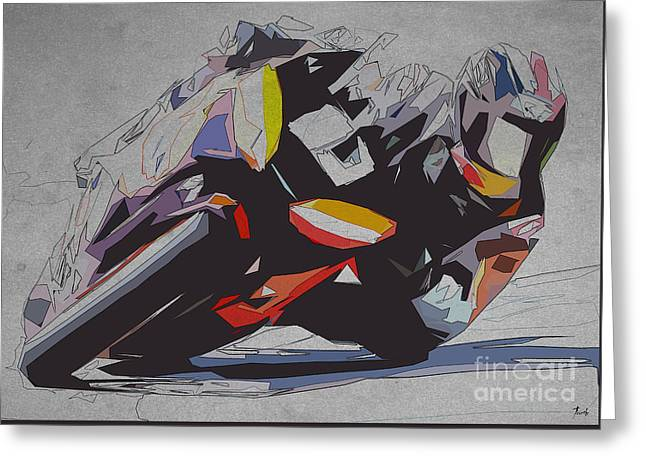 Moto Gp Repsol Greeting Card by Pablo Franchi