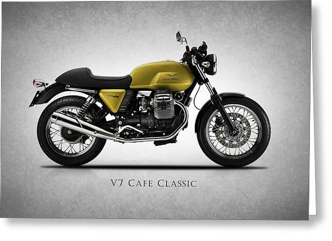 Moto Guzzi V7 Cafe Classic Greeting Card by Mark Rogan