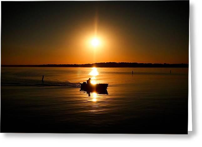 Motor Boat Ride Greeting Card by Todd Klassy